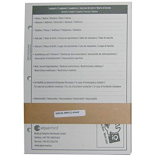 iQ-UV iQ Logbook Refill L Mixed Logbuch Einlagen, weiß, L