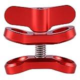 TOOGOO Accesorio de Camara Clip de Mariposa de Bola de luz de Buceo Abrazadera de Brazo Montaje de Aluminio para Gopro Hero 3 +/4/5 Xiaoyi Gitup SJ6000 Camara Rojo