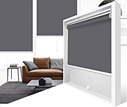 ZY Blinds Cordless Roller Shades Light Filtering Custom Made Any Size from 20-78inch Wide UV Protection Enery Saving Window Shades Blinds for Home, Hotel, Club 53