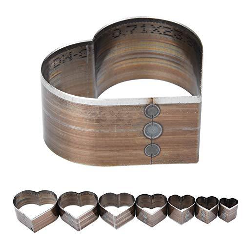 Troquel de corte de cuero de 7 piezas, 7 tamaños diferentes, para bolsos, plásticos flexibles, herramienta de artesanía de cuero