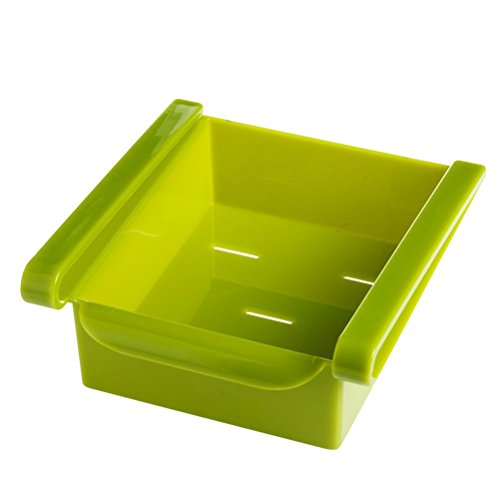 BESTONZON Kühlschrank Vorratsbehälter Box Kühlschrank Organisation Space Saver Gefrierfach Schubladenregal Regalhalter Kühlschrank Organizer (Grün)