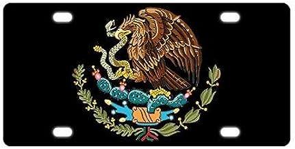 WAZZ CHUD Mexico Eagle Flag Novelty License Plate Decorative Car Front License Plate Vanity Tag Aluminum Car Plate 6 X 12 Inch Car Plate License Plate Frame