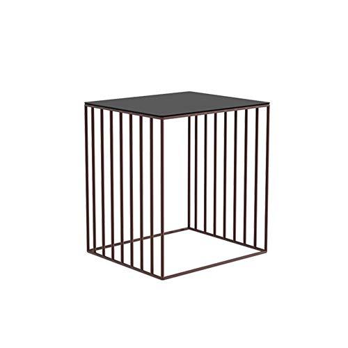ZHAOYONGLI Table D'appoint Basse Tables Basses Café Informatique Table Style Européen Casier Chambre Multifonction Boîte De Stockage D'art De Fer (Couleur : Bronze, taille : 46 * 40 * 50cm)