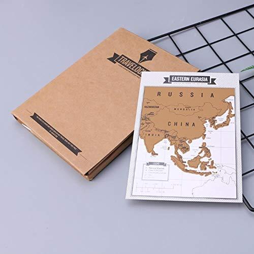 8 mapas del mundo de viaje,Bloc de notas del mapa mundial de viajes, Cuaderno de viaje creativo cuaderno de arañazos,moda de alta calidad de cuaderno