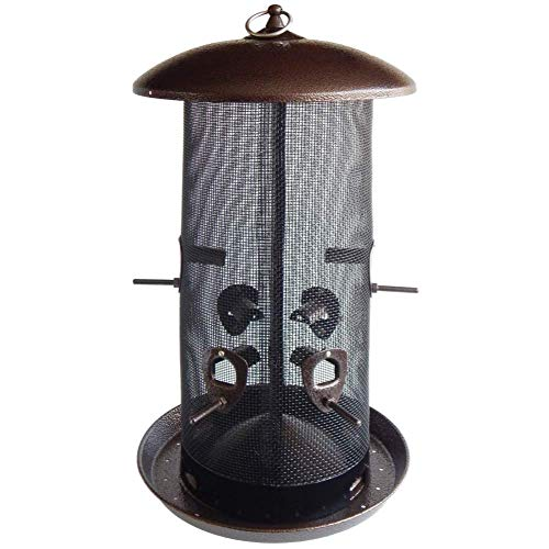 Stokes Select Bird Feeder, Giant Combo Outdoor Bird Feeder, 2 Seed Compartments, Large Seed Capacity, 8 lb, Black Finish