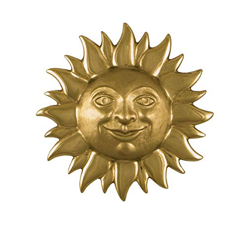 Smiling Sunface Door Knocker - Brass (Premium Size)