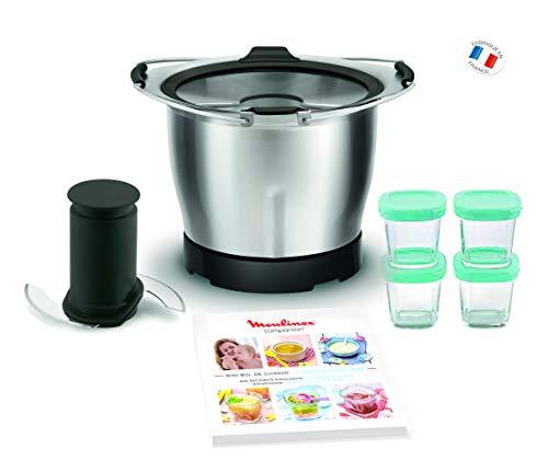 Moulinex xf387e10 mini-kom baby 1,4 l voor keukenmachine, Companion + 4 potten