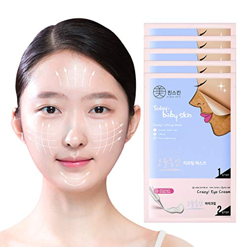 Crazy Skin Korea - Today Is Baby Skin V Lifting Mask sheet with Eye Cream(5 sheets) Peel-off, Wash-off mask