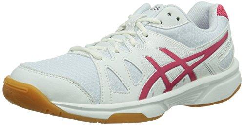 ASICS Gel-Upcourt, Zapatillas de Deporte Interior para Mujer, Blanco (White/Raspberry/Silver 0121), 40 EU