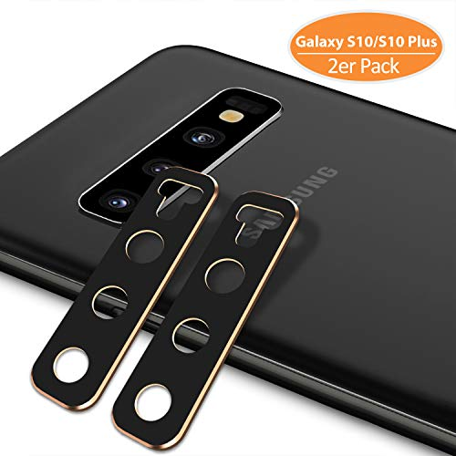TINICR Kamera Schutzhülle für Samsung Galaxy S10 Plus/S10 - [2er Pack] 0,2 mm Ultradünner Kratzfester Schlagfester Metall Linse Schutz Hülle, Aluminiumlegierung 360° Kameraschutzhülle