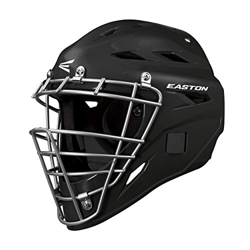 Easton M3 Youth Catcher's Helmet   Black   High Impact Resistant Hockey Style ABS Plastic Shell with Impact Absorbing Dual Density Foam   Fits 6 1/8-7' Hat/Cap Sizes   Ages 6-12yrs Old fit Rage