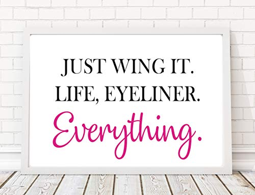 A4 Just Wing It Quote Poster Print PO138