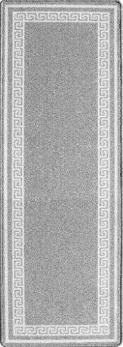 "Luna Grey Small Medium and Large Anti Slip Non Shed Modern Entrance Mat Hallway Runner 2'2"" x 6'6"""
