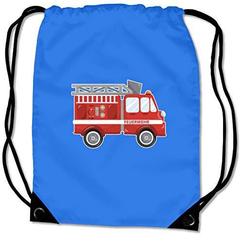Samunshi BG10 Gym Bag Cool Fire Engine Sports Bag for School Sports Bag 45 x 34 cm Sapphire Blue Coloured Print