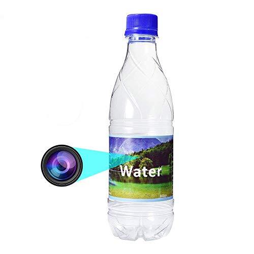 Versteckte Kamera mit Bewegungsmelder OMOUP 1080P HD Überwachungskamera Kamera Wasserflasche Spion Kamera Mini im Wasserflasche Design mit 16G TF Karten (16G)