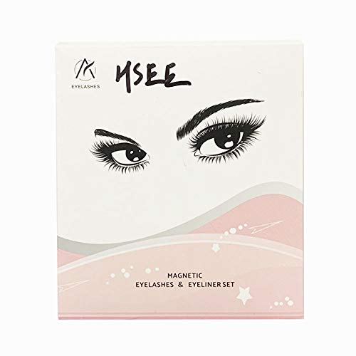HSEE Magnetic Eyeliner and Magnetic Eyelash Kit,Magnetic Eyelashes With Eyeliner,False Magnetic Lashes with Tweezers 5 Pairs