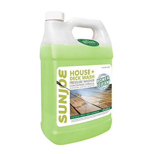 Sun Joe SPX-HDC1G House and Deck All-Purpose Pressure Washer Rated Concentrated Cleaner, 1-Gallon , White