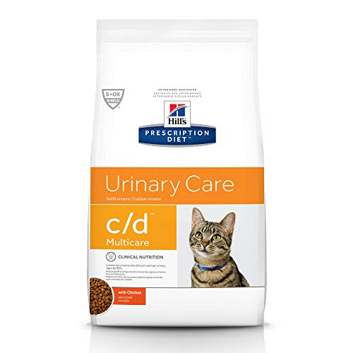 Hill's Prescription Diet c/d Multicare Urinary Care with Chicken Dry Cat Food, 4 lb bag, White (6247)