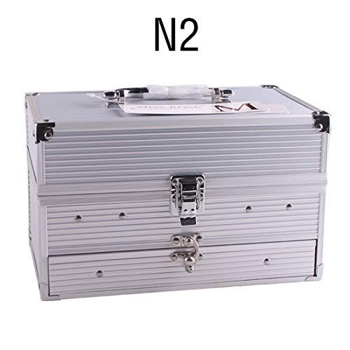 UCANBE BELLE 190 Couleurs de Maquillage Professionnel boîte en Aluminium Piano Fard à paupières Poudre Blush Gloss Outil Multifonctionnel cosmétique,N2