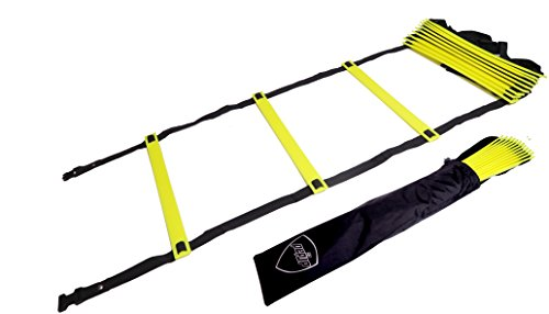 Pepup Sports Super Flat 8 Rungs Adjustable Speed Agility Ladder with Free Carry Bag, 11'