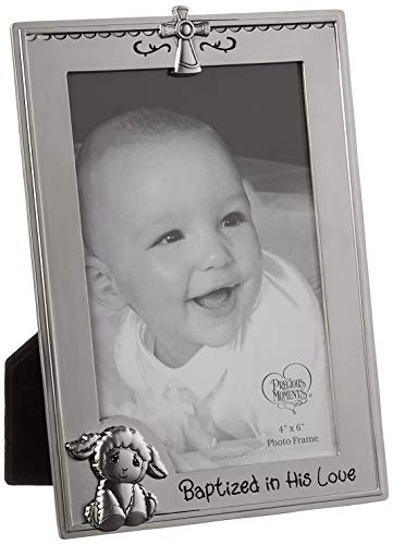 Precious Moments Baptism Photo Frame, Cream/White