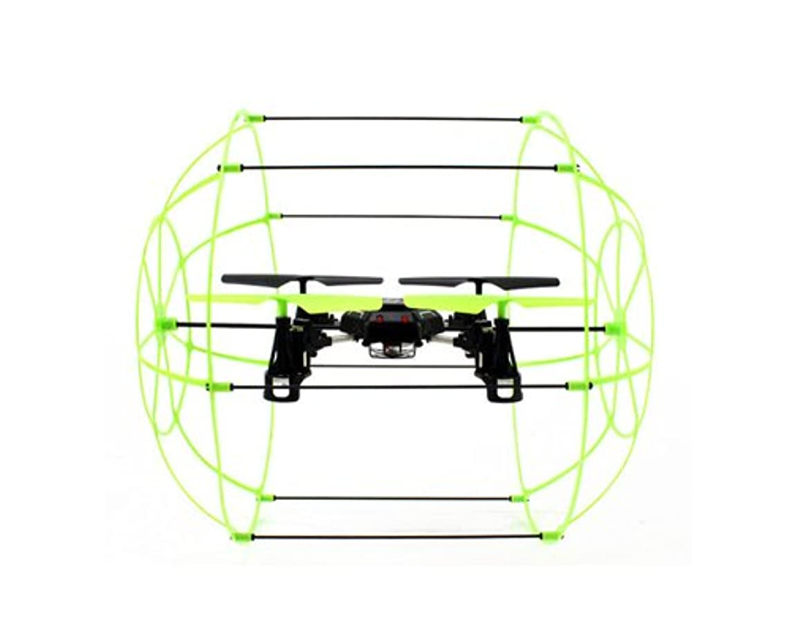 Sky Walker 1306 2.4GHz 4CH Mode 2 6 Axis Gyro 3D Flight Climbing Wall Roller LED Night Light RC Quadcopter Ready to Fly Toys RTF Drone - Green Best Gift for Christmas Birthday Thanksgiving