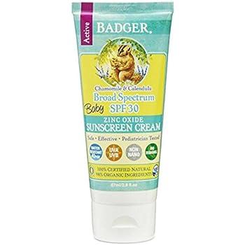Badger Balm Protector solar para bebé SPF 30, 87 ml: Amazon.es ...
