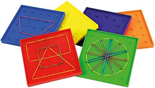 EDUPLAY 120384 - Tablero geométrico (6 Piezas, 12,5 cm)