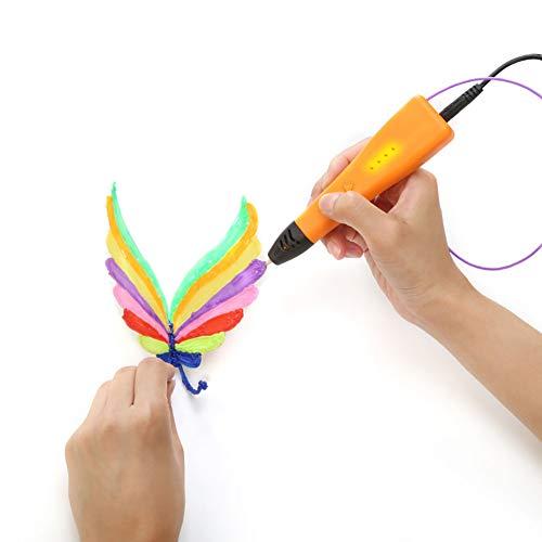 3D Print Malstift Kinder Malstift Handwerk Basteln Werkzeug Zeichnung Lernspielzeug Geschenke für Schüler Jungen Mädchen Orange