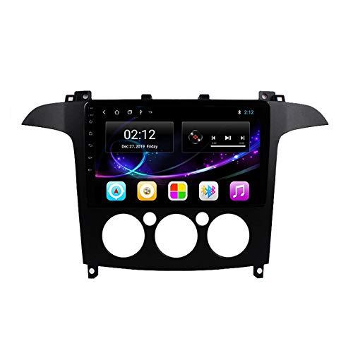 MGYQ 2 DIN Coche Bluetooth GPS Multimedia Car Stereo con Cámara De Visión Trasera Soporte Control del Volante Receptor FM 1080P Video USB AUX In, para Ford S-MAX 2006-2015,Octa Core,4G WiFi 4+64