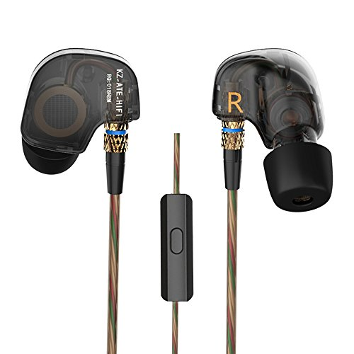 WishLotus Copper Driver HI-FI Sports Headphones Stereo Headset Earphone In-Ear Earbuds with Foam Eartips for Smartphone Apple iPhone iPad iPod Samsung HTC LG MP3/4 Tablet etc (ATE with Microphone)