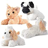 Plush Dog Set Pack of 4 Realistic Looking Puppies 6 Inches Plush Dogs Stuffed Animals