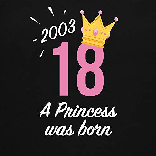 Geburtstag – 18 Geburtstag Mädchen Princess 2001 – S – Schwarz – L191 – Damen T-Shirt Rundhals - 2