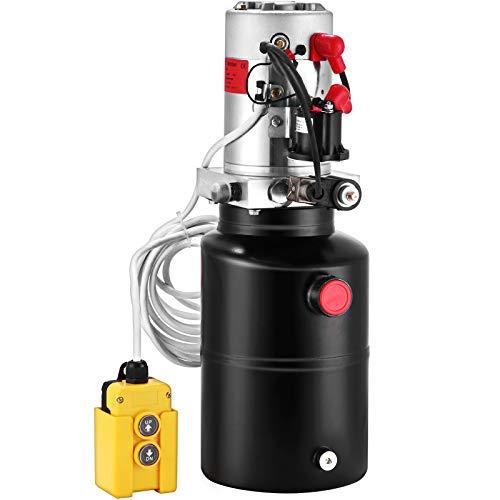 BuoQua Bomba Hidráulica con Simple Efecto 6L, para Remolque