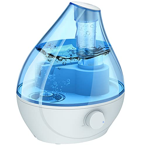 Humidifiers for Bedroom, BPA-Free 22dB Quiet Cool Mist Humidifier for Home, Auto Shut Off, 24H Work Time, Easy to Clean, Air Humidifier for Nursery, Humidifiers for Plants, Pets, Blue