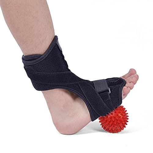 Natt användning fotstöd med pvc boll fot droppe ortos ryggmärgsskada ortos ankel stag support comfort dämpad förstörd fotstöd