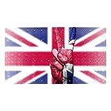 Badewannenmatte rutschfeste Duschmatten mit Saugnäpfen & Ablauflöchern Badewannenmatten rutschfeste Badematten UK-Flagge-Sieg witzig