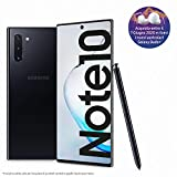samsung galaxy note10 smartphone, display 6.3 dynamic amoled, 256 gb espandibili, ram 8 gb, batteria 3.500 mah, 4g, dual sim, android 9 pie, [versione italiana], aura black