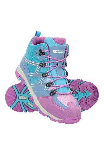 Mountain Warehouse Oscar Kinder-Wanderschuhe - Strapazfähige Wanderstiefel, atmungsaktive Mädchen- & Jungenschuhe, Wildleder- Für Zelten & Trekking Lila 33