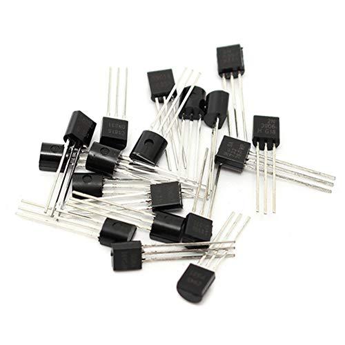 NPN Transistor 2N2222,Three Pins 2n2222 NPN Transistor TO-92 NPN Transistor Assortment Ki 2N2222A,20 Pcs