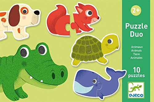 Djeco 38147 Educativos Duo Animales Puzzles