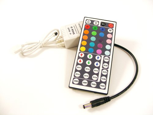 44-Tasten Fernbedienung und Controller mit Empfänger für 1m bis 10 Meter RGB LED Leiste Strip Band Streifen