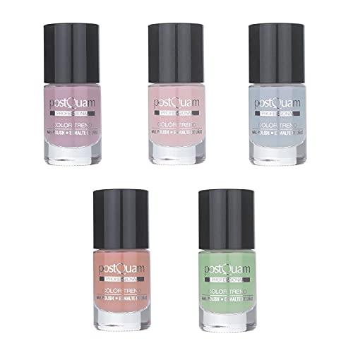 PostQuam Color Trend - Esmalte de Uñas | Pintauñas Pastel - Pack Esmalte Uñas Pastel - Pack 5 Esmaltes Pastel