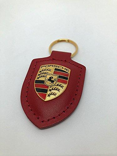 Price comparison product image Original Porsche Crest Leather Keyring,  Red,  WAP0500920E
