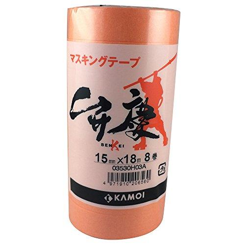 カモ井 マスキングテープ 弁慶 15mm×18m 8P [養生テープ]