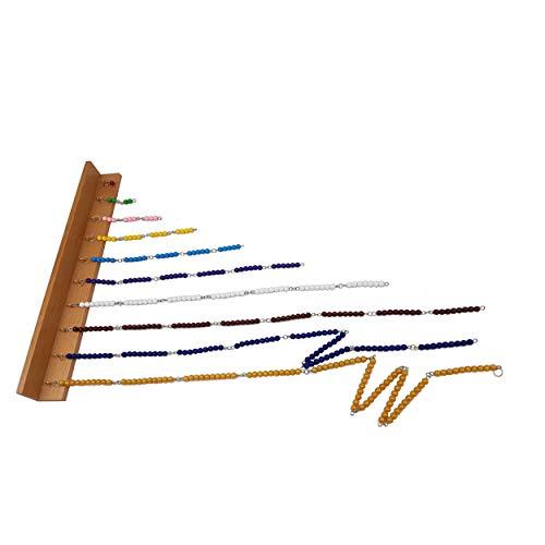 IFITMONTESSORI Short Bead Chains and Wall Frame (C Beads), Montessori