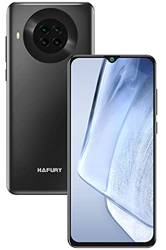 Smartphone Barato Libre 4G, Teléfono Móvil Bueno HAFURY K30 3GB RAM+64GB ROM 6,5'' HD+ Pantalla Dotdisplay Cámara Cuadrúple 20MP 4200mAh Batería, Dual SIM Face ID con NFC GPS Android 10, Negro