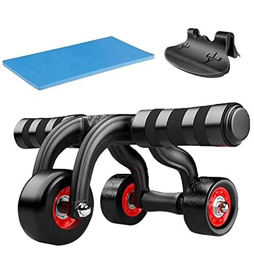 JINGGL Rodillo Abdominales Sin Ruido 3 Ruedas Rodillo Abdominal Inicio Equipo de Aptitud Muscular Ejercicio Muscular Brazo Cintura Gimnasio Ejercicio Power Muscle Trainer (Color : 3 in 1)