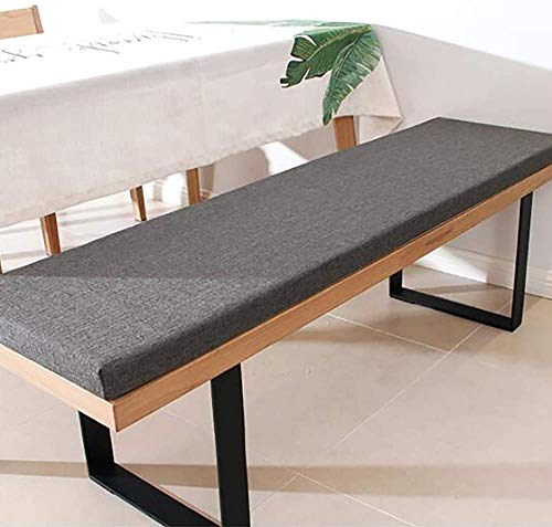 HANHAN Bench Cushion,Detachable Rectangle Bench Pad Mat,Indoor Outdoor Seat Cushion for Sunchair/Dining Bench/Lounger Cushion Replacement,Washable