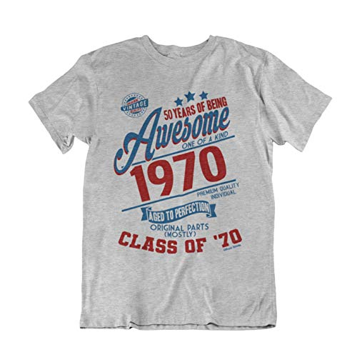 Buzz Camisetas para Hombre de cumpleaños T-Shirt 50 Years of Being Awesome 1969 Aged To Perfection Class of